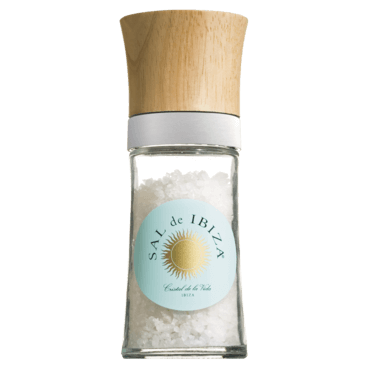 Sal de Ibiza Salzmühle mit grobem Meersalz