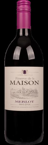 Reserve de la Maison Merlot Vin de Pays d'Oc 1 Liter