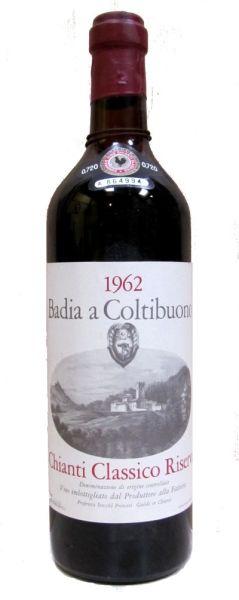 1962 Chianti Classico Riserva - Badia a Coltibuono